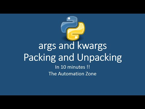 args and kwargs | packing and unpacking | Python Tutorial 15 thumbnail