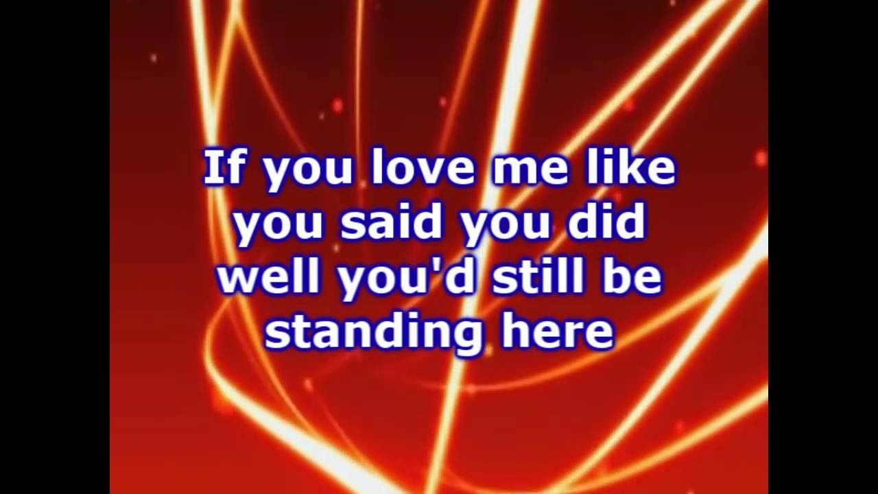 If you think know to love me lyrics
