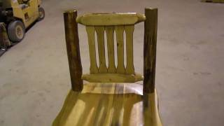 Amish Made Glacier Country Log Furniture Swivel Barstool With Back By Montana Woodworks