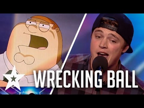 Thumbnail: Peter Griffin, Elmo & More Sing Wrecking Ball On Britain's Got Talent