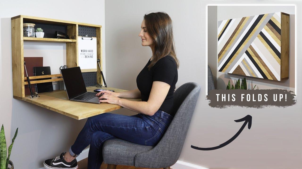 how to build a fold down wall desk diy murphy desk