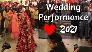 Bride Wedding Performance 2019 | Bhangra | Morni Banke | Gulabi Pagg | Wedding Song | Wedding Dance
