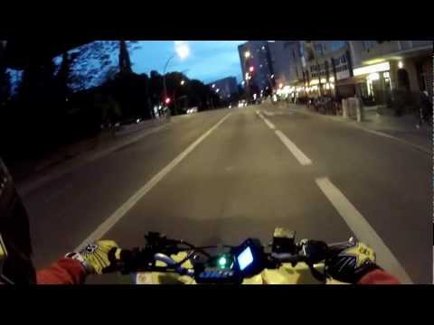 Quad night drive Berlin at night ! GoPro HD Hero 2 at night Suzuki ltr 450 road rage supermoto