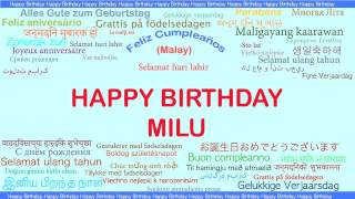 Milu   Languages Idiomas - Happy Birthday
