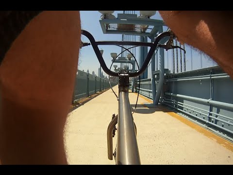 Riding to Philly using the Ben Franklin Bridge