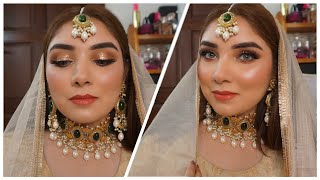 Desi Makeup Tutorial Using all Affordable Makeup Products || Nishoo Khan