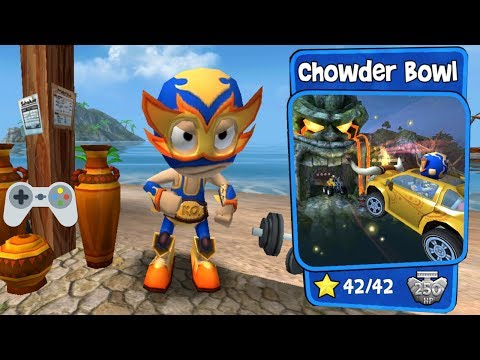 Beach Buggy Racing - Chowder Bowl - Full Gameplay - All Stars!!!