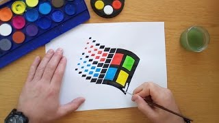 How to draw an old Windows logo (Logo drawing)