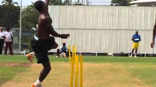 Fidel Edwards - Cricket Fast Bowling (West Indies)