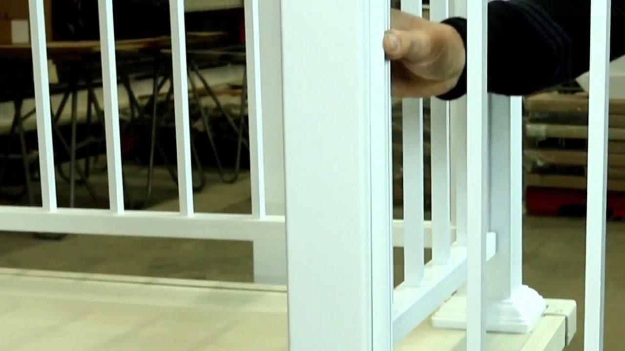 rampe d 39 aluminium installation youtube. Black Bedroom Furniture Sets. Home Design Ideas