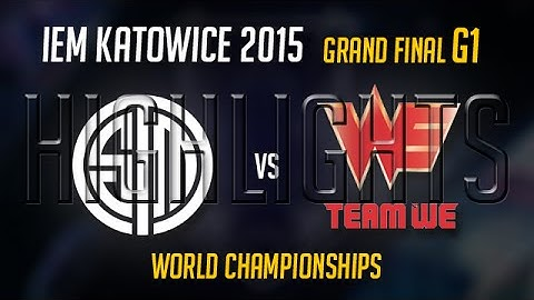 tsm vs team we game 1 highlights  iem world championship 2015 grand final  tsm vs we