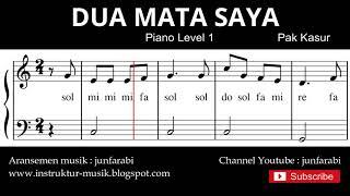 not balok dua mata saya - tutorial piano grade 1 - notasi lagu anak - doremi solmisasi