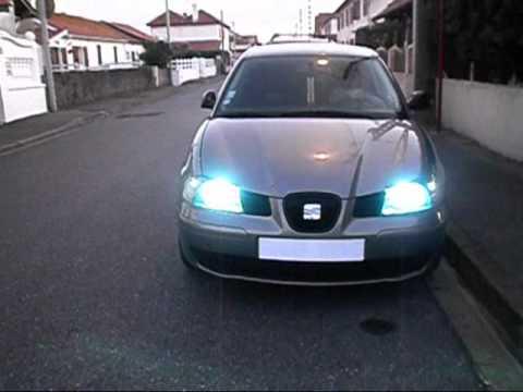 Hid Kit Bi Xenon H4 6000k Led W5w Seat Ibiza Youtube