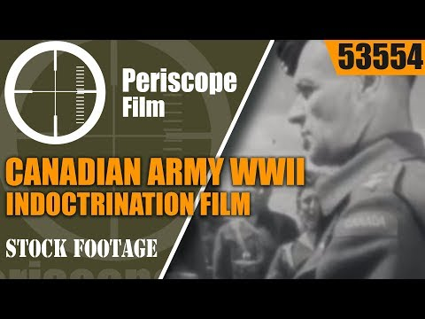 """CANADIAN ARMY WWII INDOCTRINATION FILM  """"BATTLE IS OUR BUSINESS"""" 53554"""