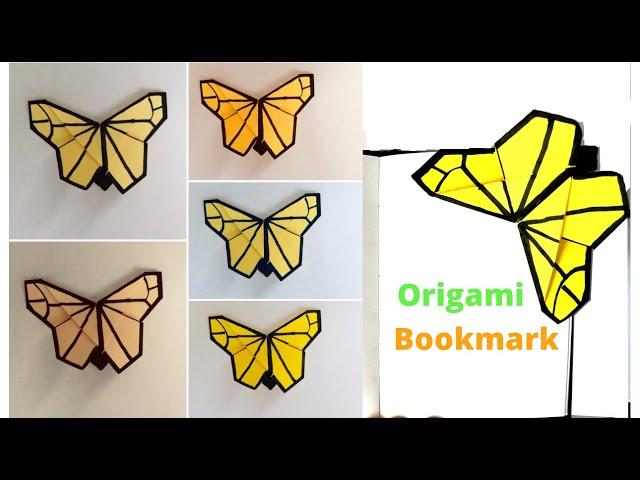 Easy DIY Origami Butterfly Paper (Corner-)Bookmark Tutorial