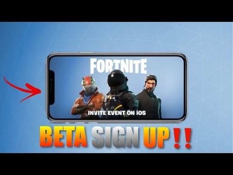 Fortnite Mobile How to Sign Up For Beta Early‼️