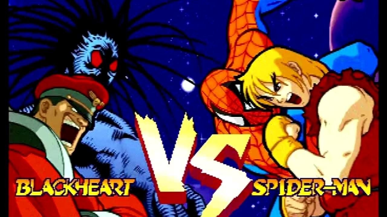 Resultado de imagem para Marvel Super Heroes vs Street Fighter Saturn Ending
