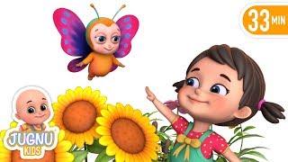 Titli Udi - Titli Rani | तितली उडी | hindi poem | Hindi rhymes for children jugnu kids