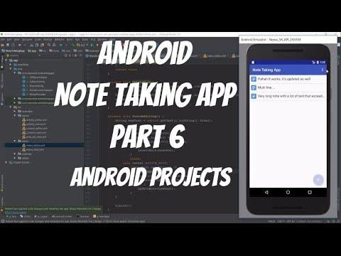 Android Projects - Note Taking App Part 6