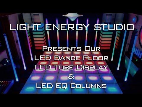 LED Dance Floor - LED Tubes and LED  EQualizer Columns