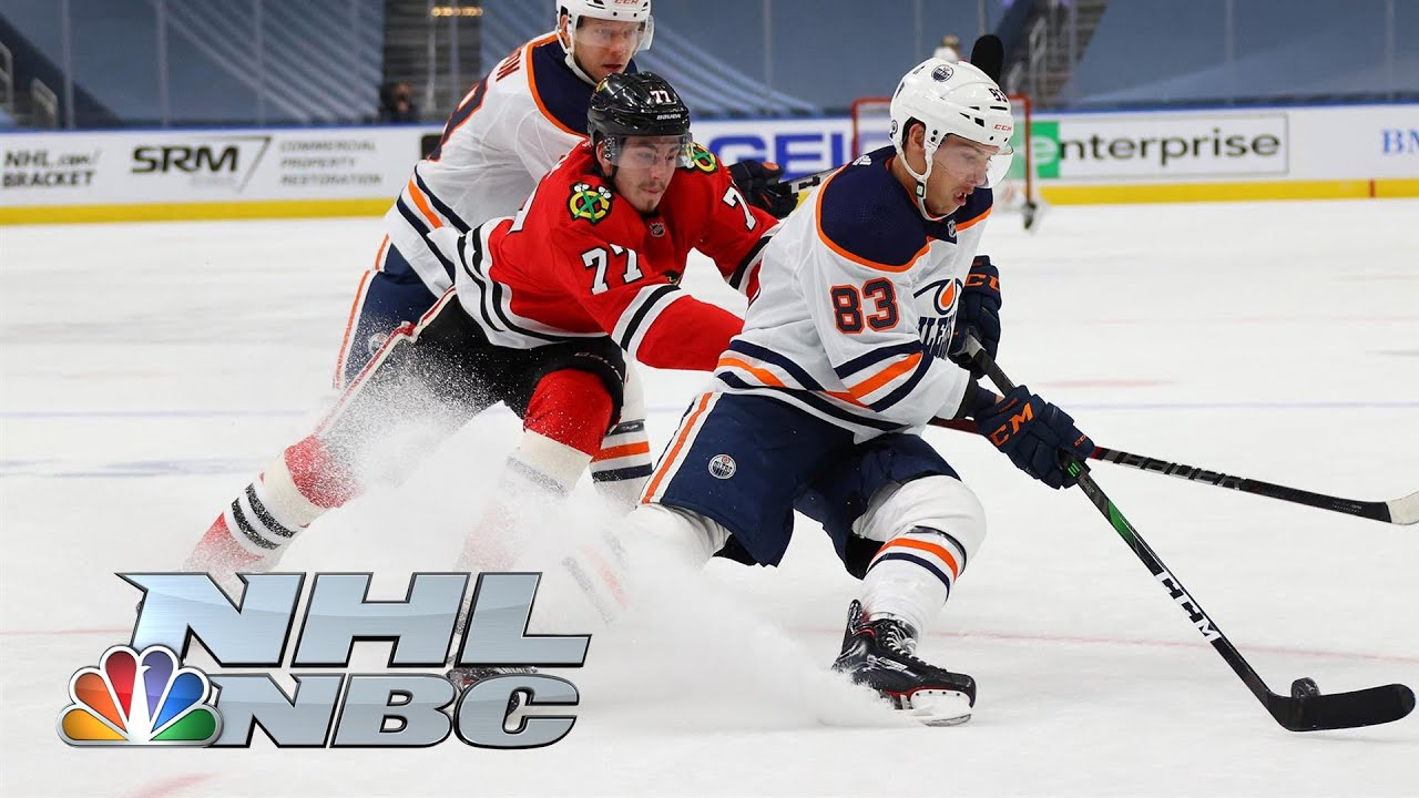 NHL Stanley Cup Qualifying Round: Oilers vs. Blackhawks | Game 3 EXTENDED HIGHLIGHTS | NBC Sports