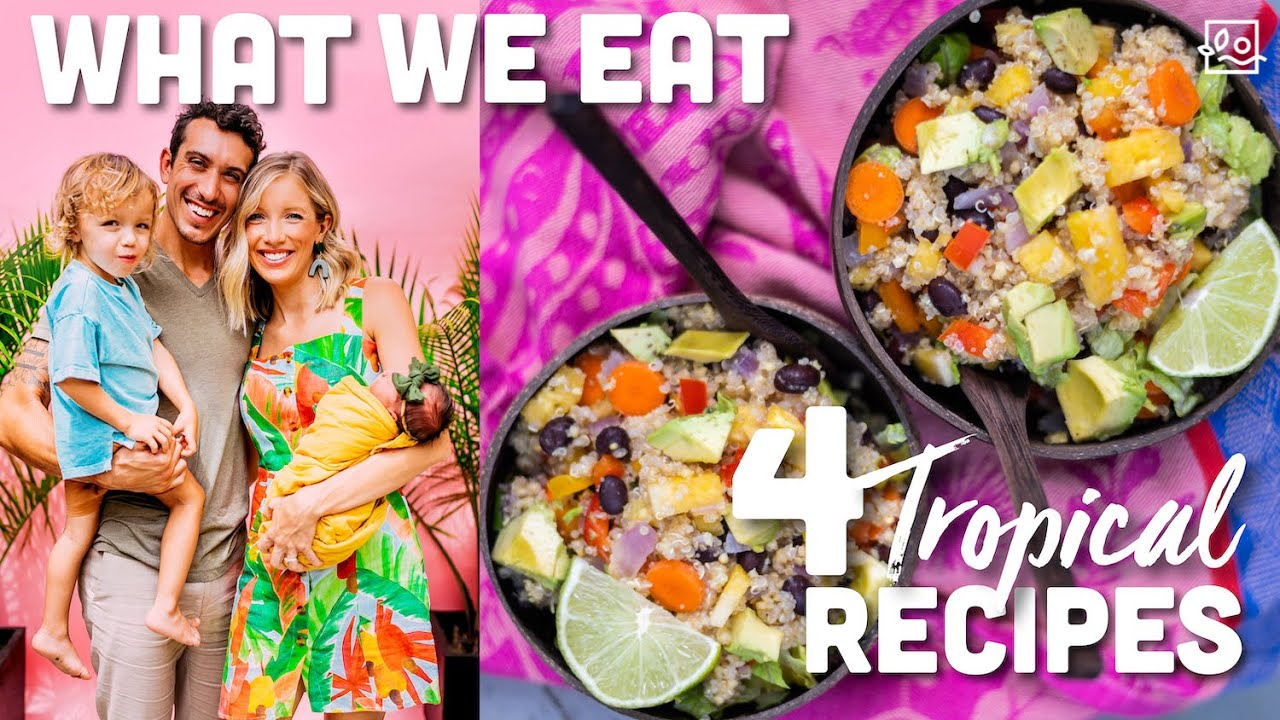 🥥 What We Eat In A Day: Tropical Vegan Family of 4, Breastfeeding Mom of 2! 🌴