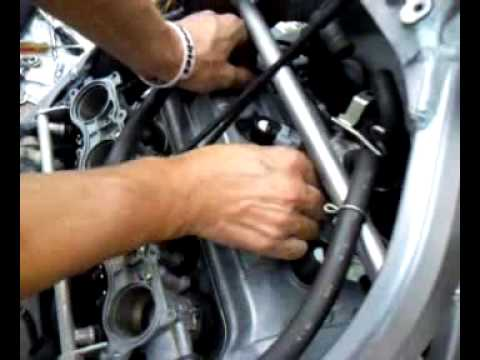 2004 Honda F4i Changing Spark Plugs Part4 Youtube