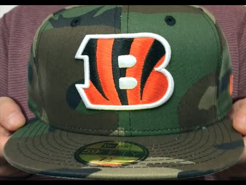 Bengals  NFL TEAM-BASIC  Army Camo Fitted Hat by New Era - YouTube 4bf23eed9