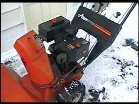 Ariens St724 Snowblower Cold Start Youtube
