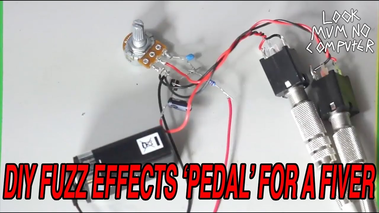 Make A Fuzz Pedal Effect For Under 5 Dollars Pounds Youtube Schematic