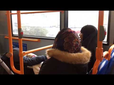 Migrants on London bus...#busjourney17