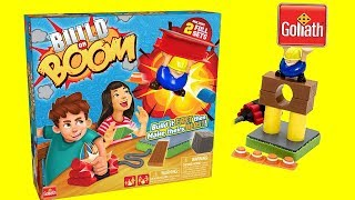Sent By Goliath Games, How to Play Golitath Games Build or Boom, Construction Game, Lots of Toys