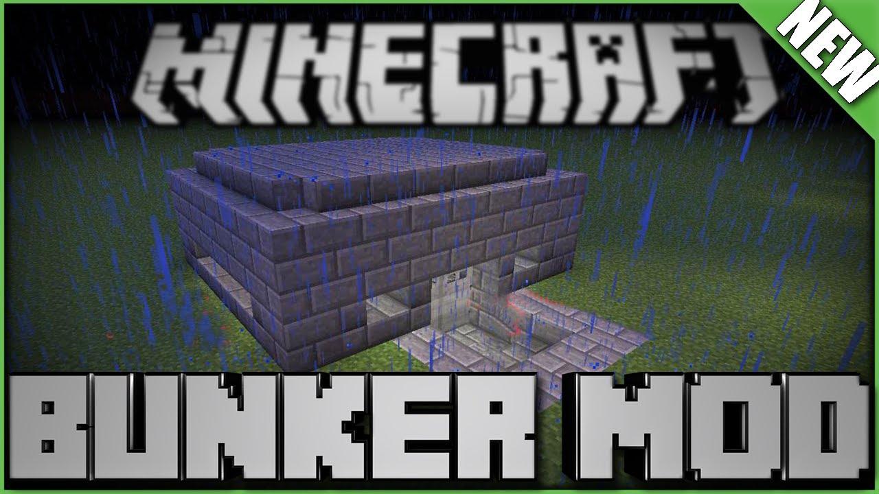 Minecraft Mod Bunker Mod YouTube - Minecraft moderne hauser lekoopa