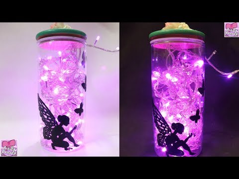 DIY Fairy Jar /How to make Fairy lantern/ How to make fairy glow jar /Fairy jar Tutorial