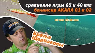 Балансиры на щуку и окуня, сравнение игры AKARA 01, обзор, Братья Щербаковы
