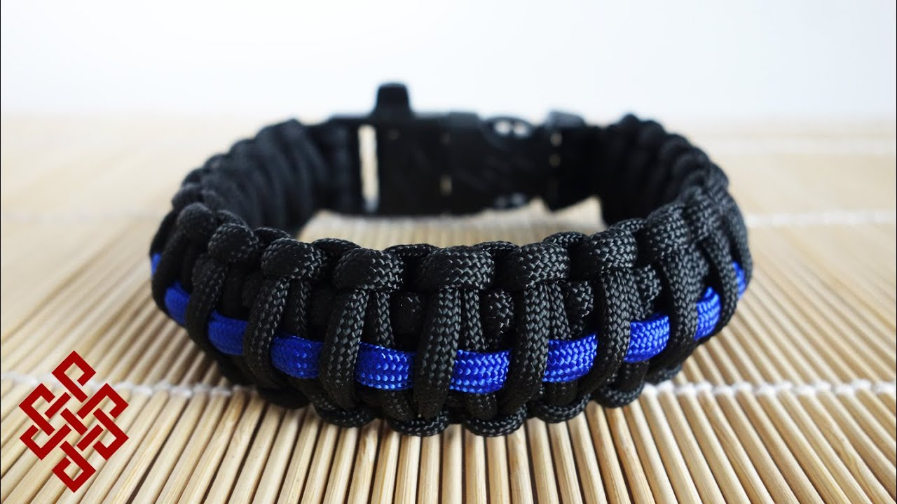 enforcement htm thin blue law line paracord bracelet