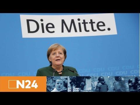 Große Koalition: Pressekonferenz mit CDU-Chefin Angela Merkel in Berlin