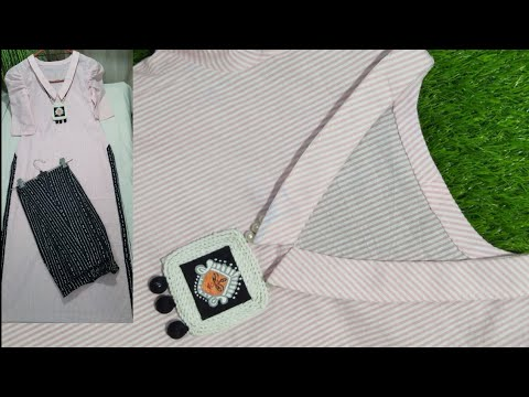 Kurti Collar Neck Cutting And Stitching Simple And Very Easy Method|| Beautifully Kurti Neck Design