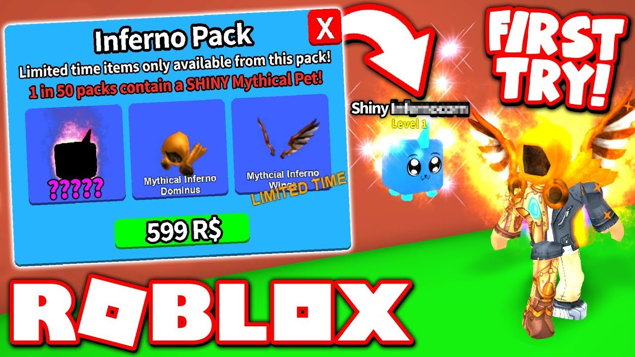 New Mythical Shiny Pets Update In Roblox Mining Simulator I Got A Shiny Mythical Pet When I Bought The New Inferno Pack Roblox Mining Simulator Update Youtube