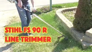 Stihl FS 90 R Line Trimmer Review(Are you considering a Stihl line trimmer? This video is a review of a FS 90 R trimmer that is approximately 2 years old. This trimmer is put through a series of ..., 2015-04-29T15:25:49.000Z)