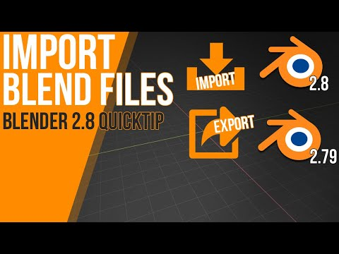 How To Import .blend Files | Tutorial | Append Function