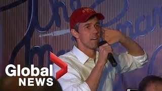 Beto O'Rourke holds a town hall in Ames, Iowa