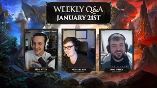 Equipment Rebalancing! Mods Arcane, Ayiza & Husky - OSRS Q&A January 21st