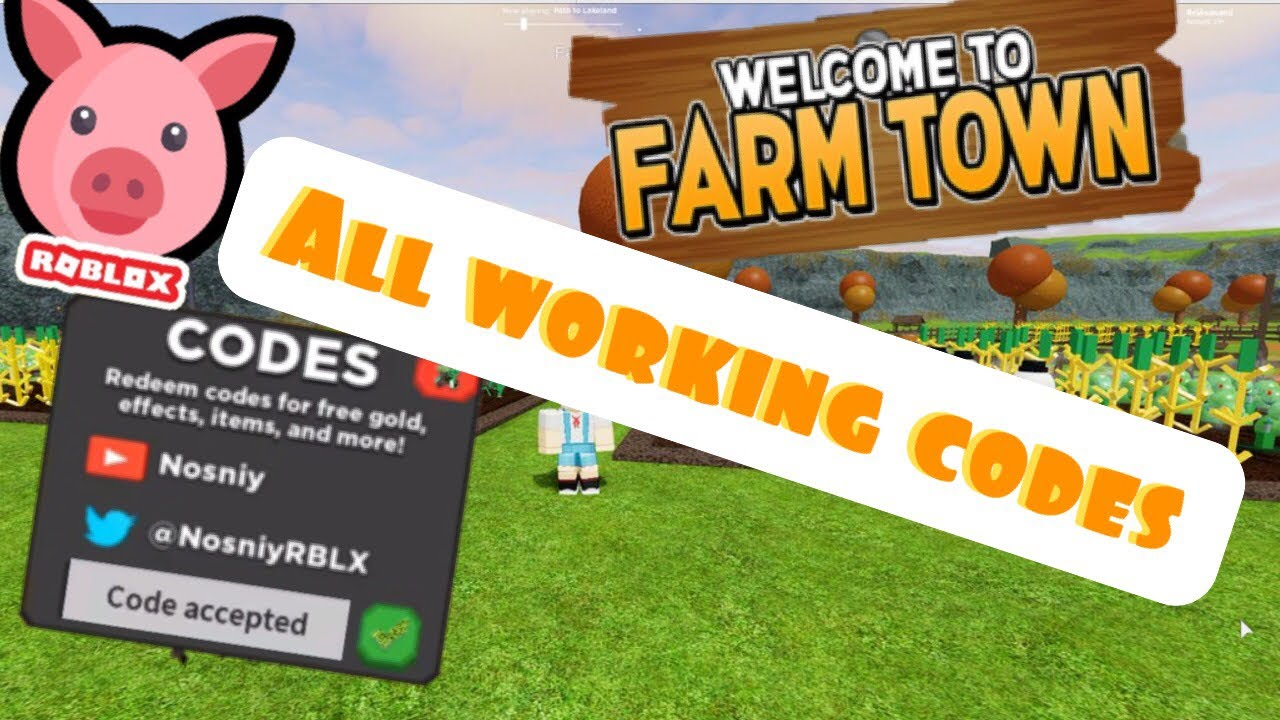 Roblox Welcome To Farm Town All Working Codes 2020 Youtube