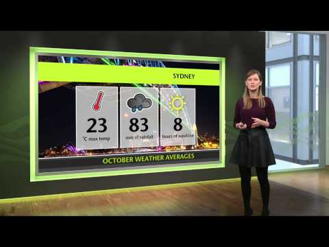 October holiday weather - Australia and New Zealand