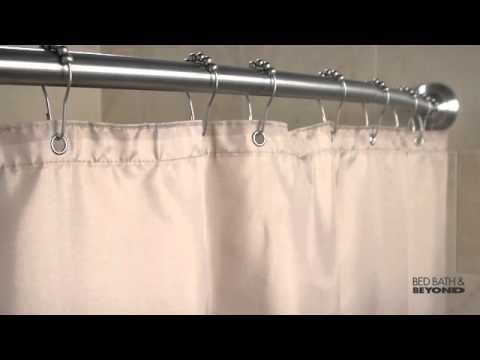 Bed Bath And Beyond Shower Rod moen adjustable curved shower rod at bed bath & beyond - youtube