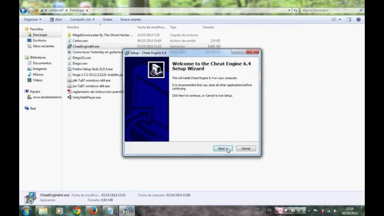 descargar cheat engine 6.4 para windows 7