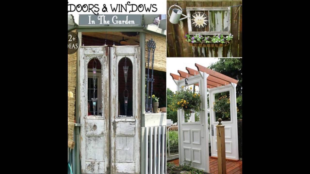 repurposed doors and windows - YouTube