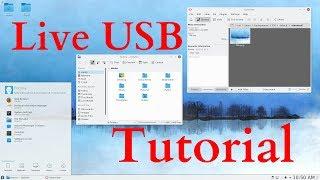 How to make a Live/Bootable USB with LINUX Fedora KDE Plasma Desktop