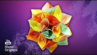 Кусудама шар из Цветов